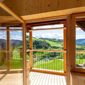 Aussicht vom Balkon in der Ferienwohnung Lärchenzweig