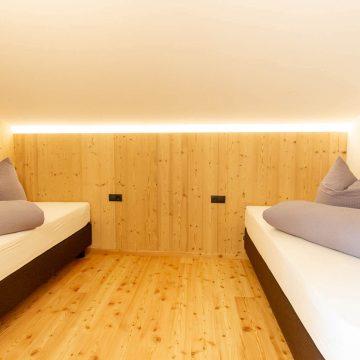 Schlafzimmer in der Ferienwohnung Daimlhof