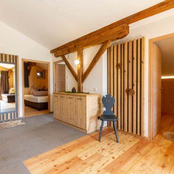 Eingangsbereich im Apartment Ferienwohnung Lärchenzweig in Vös am Schlern