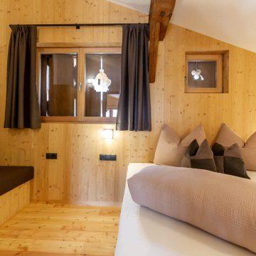 Schlafzimmer im Apartment Ferienwohnung Lärchenzweig