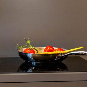 Kochplatte in der Ferienwohnung Lärchenzweig