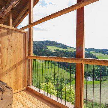 Aussicht vom Balkon der Ferienwohnung Moosherz