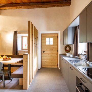 Wohnküche in der Ferienwohnung Schlernstein