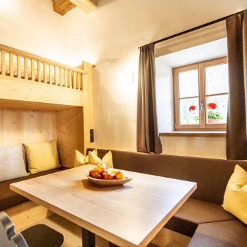 Sitzecke im Apartment Ferienwohnung Schlernstein