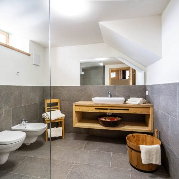 Bad in der Ferienwohnung Schlernstein in Völs am Schlern