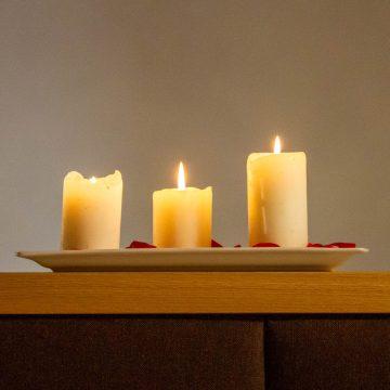 Kerzen in der Ferienwohnung Schlernstein