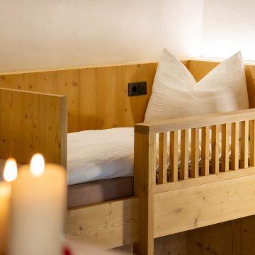 Hochbett in der Ferienwohnung Schlernstein